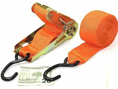 """Ratchet Tie Down Cargo Straps 2"""" x 20' HEAVY DUTY LARGE with S Hooks"""