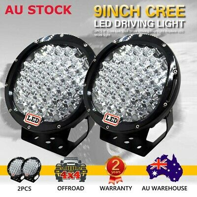 PAIR 9INCH 99999W CREE LED Driving Lights Spot Lights Offroad REPLACE HID Lights