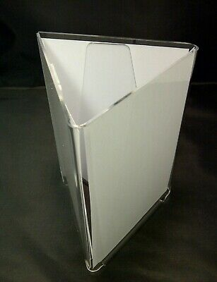A6 3 SIDED CLEAR ACRYLIC MENU HOLDER DISPLAY PERSPEX TABLE TOP DISPLAY STAND x 5