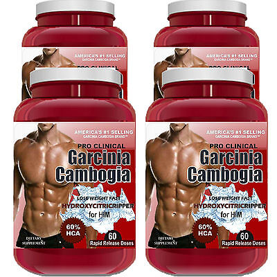 4 Bottles PURE Garcinia Cambogia Extract Natural Weight Loss 100% Diet Plus HCA