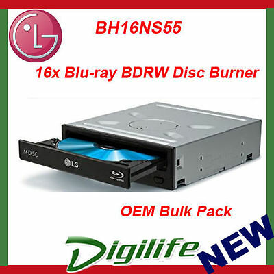 LG 14x Blu-Ray Burner Super Multi DVD/CD Writer SATA Drive OEM BH16NS55