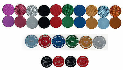 1 x Personalised Golf Ball Marker, Free Engraving
