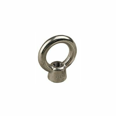 """1/4""""-20 Threaded Stainless Steel Eye Nut 1/4-20 Loop Hole for Cable Rope"""