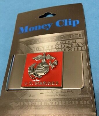 Marines Money Clip With Color Insignia