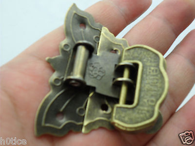"Old look Butterfly lock Buckle with Useful ""Lucky"" lock/key for Jewelry box"