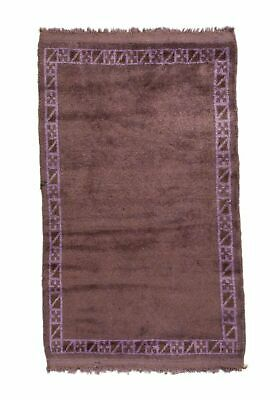 3x4 4x3 Overdyed Tribal Vintage Wool  Rug 2 Ft. 7 In. x 4 Ft. 4 In. -- 2685