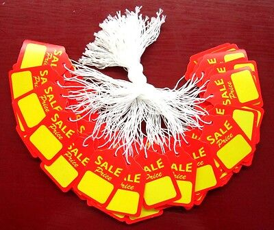 500 Large Strung Scallop SALE PRICE String Merchandise Jewelry and Display Tags