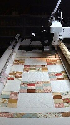 AEA Computerized Longarm Quilting Services - QUEEN SIZE - Free Batting & Thread