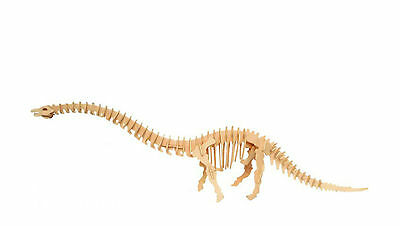 Diplodocus Dinosaur 3D Jigsaw DIY Realistic Wooden Model Decorate Toy Puzzle Gif