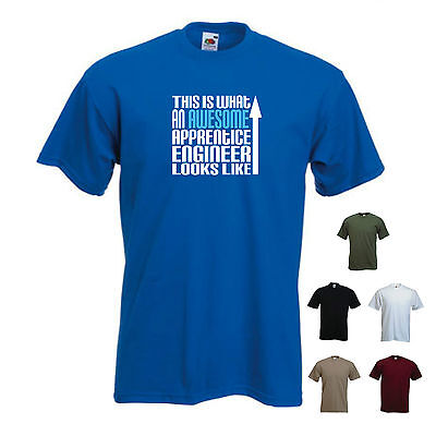 'This is what an Awesome Apprentice Engineer looks like' Funny T-shirt Tee