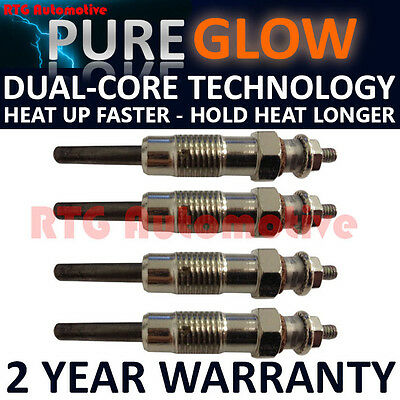 4X For Vauxhall Opel Movano Arena 2.5 Diesel Heater Glow Plugs Gp91002