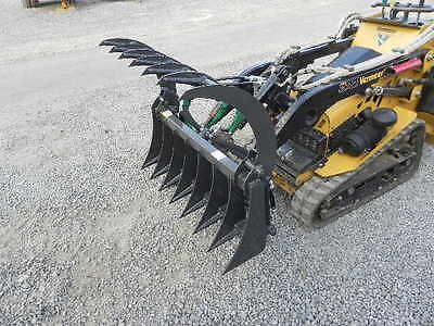 "New 44"" CID Xtreme Mini Skid Steer Grapple Rake Bucket Attachment For Toro Dingo"