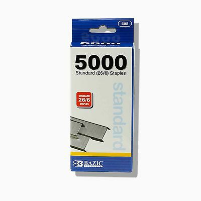 BAZIC 5000 Count Standard (26/6) Chisel Point Staples