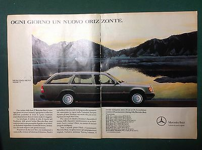 Advertising Pubblicita'  Mercedes-Benz  Serie T  -  1990
