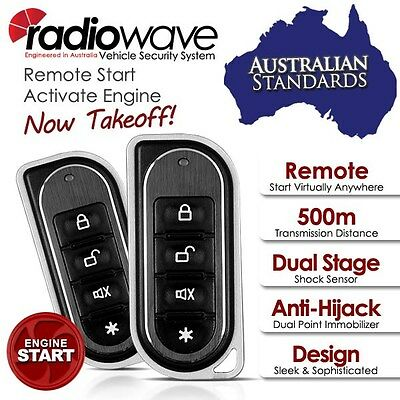 500Meters RADIOWAVE Keyless Entry & Remote Engine Auto Start Car Alarm System