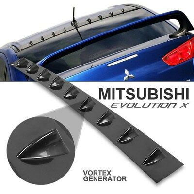 Mitsubishi Lancer 08-ON Evolution 10 Evo X Glossy Black Vortex Generator Spoiler