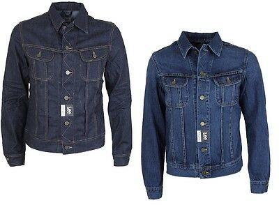 Mens Lee Rider Denim Vintage Jacket In 2 Colours All Sizes S To Xxl
