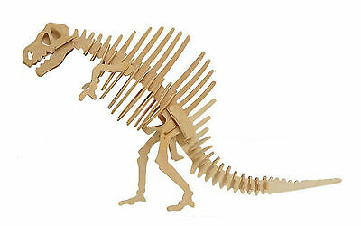 SPINOSAURUS Dinosaur DIY 3D Jigsaw Realistic Wooden Model Kit Toy Puzzle Gift