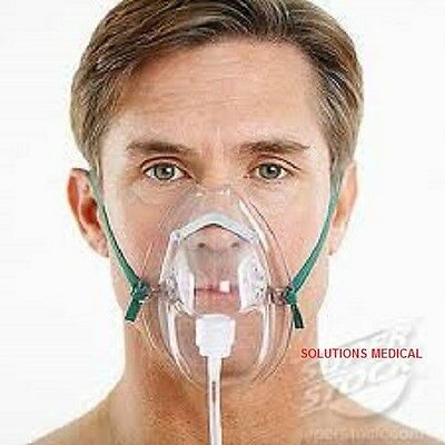 OXYGEN MASK WITH 210CM TUBING x 2 (ADULT)