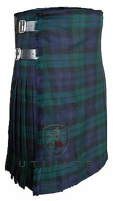 UT Kilts Black Watch Tartan 100% Wool Kilt