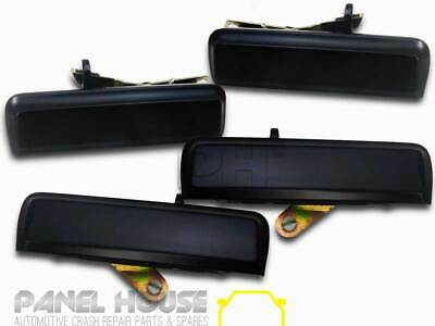 NEW Ford Falcon XD XE XF '79-'87 Front Rear Outer Door Handle SET x4 Black Metal