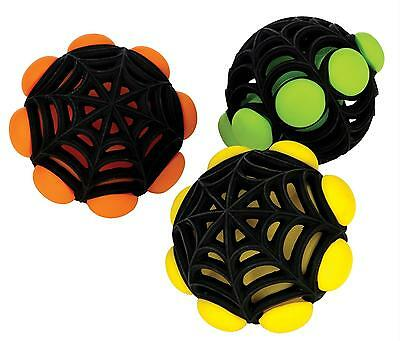 JW Arachnoid Ball Durable Rubber Squeaky Bouncing Dog Toy Medium