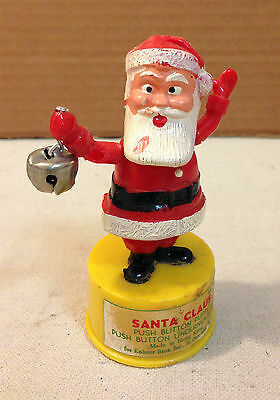 Vintage Kohner Bros Inc Santa Push Button Puppet - 1960's