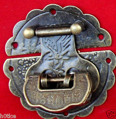 Chinese classical Twill lock catch & Useful Blessing lock/key for Jewelry box • CAD $12.47