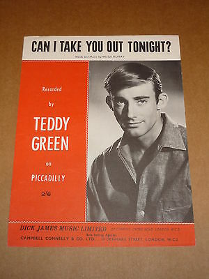 """Teddy Green """"Can I Take You Out Tonight?"""" sheet music"""