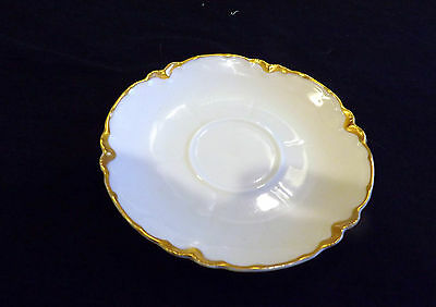 Haviland & Co Limoges Saucer with Gold Trim 5 3/8 Inch