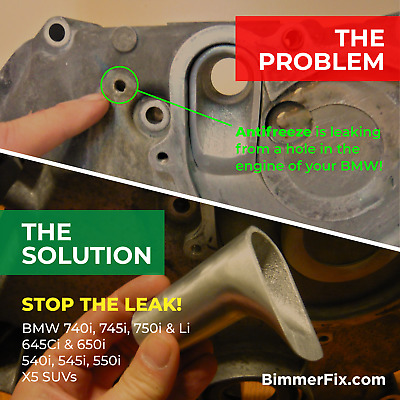 BimmerFix Coolant Transfer Pipe Repair System! IT WORKS OR YOUR MONEY BACK!!!
