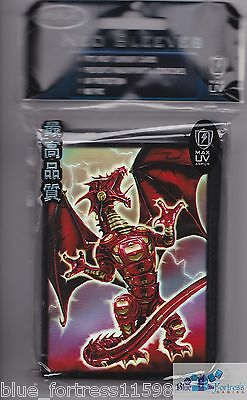 50  Max Protection Dragon Fury Red Deck Protector Card Sleeves For Mtg Pokemon