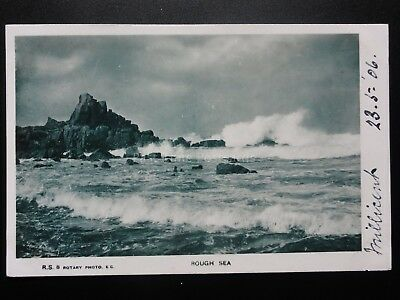 Rough Sea c1906, posted from Belfast - Old RP Postcard Pub by Rotary