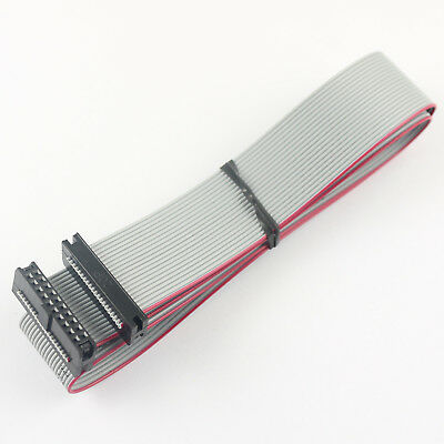 2Pcs Pitch 2mm 2x10 Pin 20 Pin 20 Wire IDC Flat Ribbon Cable Length 45cm