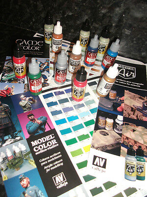 VALLEJO 17ml ACRYLIC PAINT CHOOSE 6 FROM COMPLETE RANGE