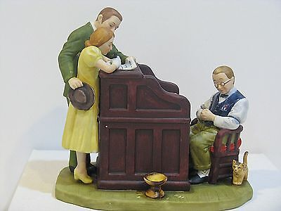"Norman Rockwell  "" The Marriage License "" Figurine"