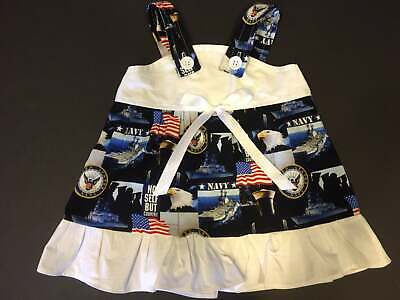 US United States NAVY Military Baby Infant Toddler Girls Dress YOU PICK SIZE *