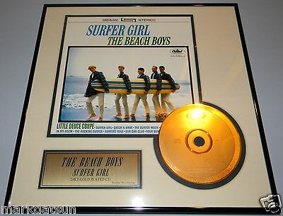 BEACH BOYS Surfer Girl Commemorative ETCHED GOLD CD Framed Unique NEW