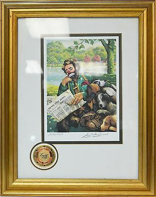 """EMMETT KELLY """" Sunday in the park"""" Lithograth COA Limited Edition"""