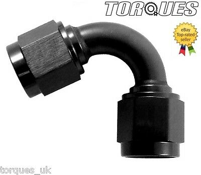 AN -10 (AN10 -10AN JIC) 120 Degree Female to Female Adapter In Black