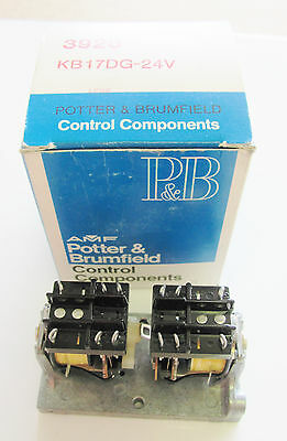Tyco Potter & Brumfield KB17DG-24,10A,  24VDC, 4PDTDual Coil Latching Relay NEW
