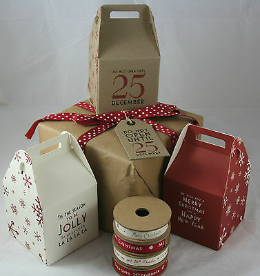 East Of India Square Christmas Gift Box Vintage Do not open until 25th December