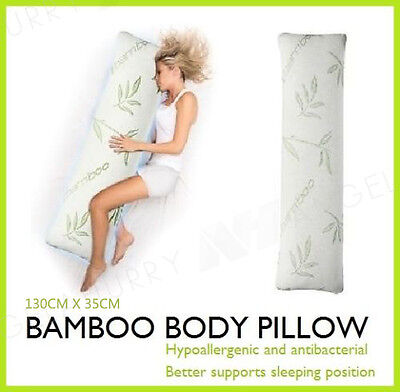 NEW BAMBOO Body Pillow Memory Foam Firm Long Natural Maternity Pregnancy Support