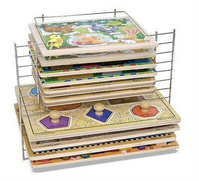Easy and Neat Storage! Melissa & Doug Classic Deluxe Wire Puzzle Rack 1525