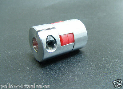 6.35mm x 8mm Flexible Jaw Coupler CNC Shaft Spider Stepper Motor Coupling 6.35x8