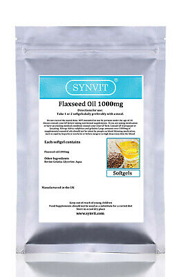 SYNVIT® Flaxseed Oil 1000mg, Omega 3,6 & 9