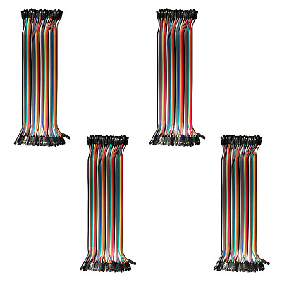 4pk 40-Wire Female-Female Jumper Wire; 40P Color Wires Ribbon Cable Arduino USA