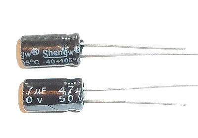 E-Projects - 47uF 50V 105c Radial Electrolytic Capacitor (5 Pcs)