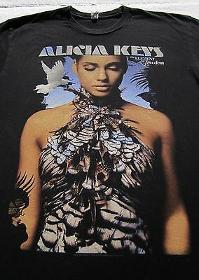 ALICIA KEYS freedom 2010 tour MEDIUM concert T-SHIRT