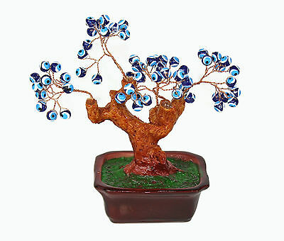 "Evil Eye Bonsai Money Tree 5"" Turkish Feng Shui"